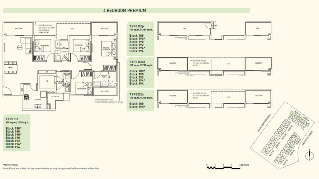 Westwood Residences EC - 4 bedroom premium floor plan