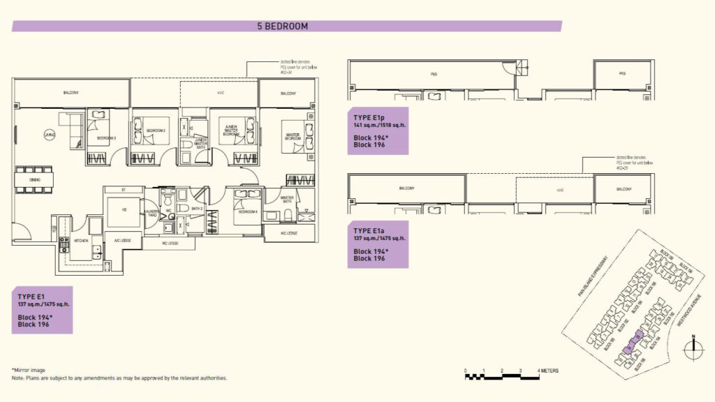 Westwood Residences EC - 5 bedroom floor plan