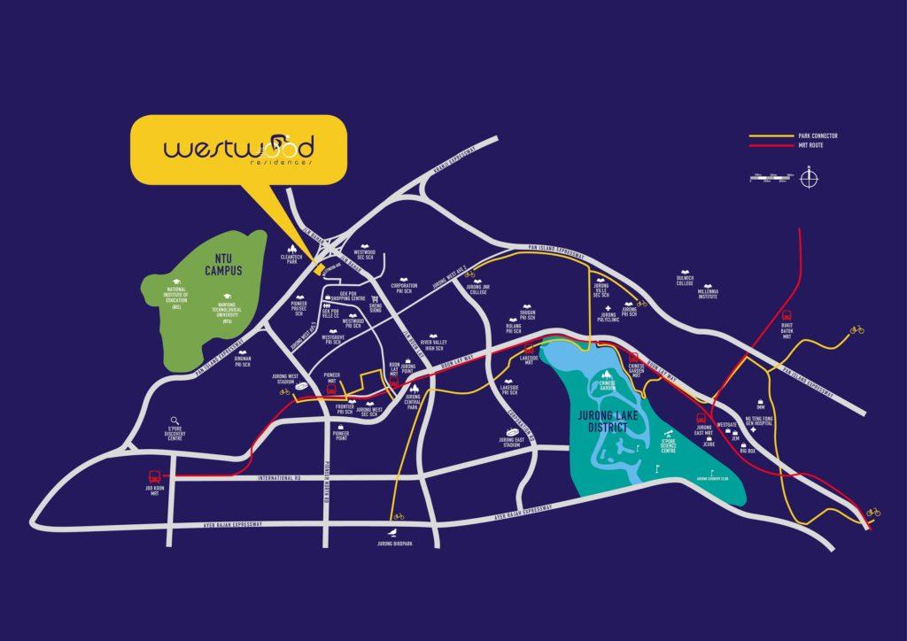 Westwood Residences EC - Location Map