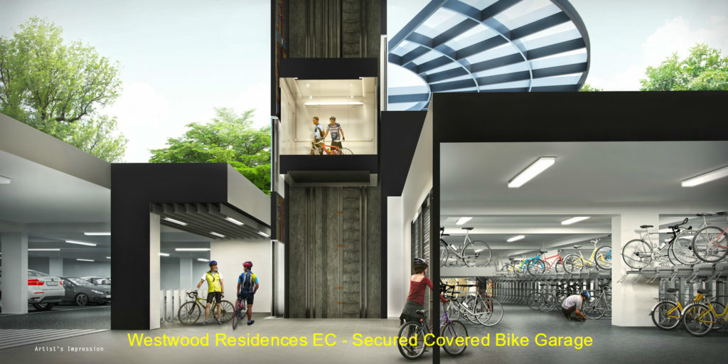 Westwood Residences EC - Secured Covered Bike Garage (Cross Section View)