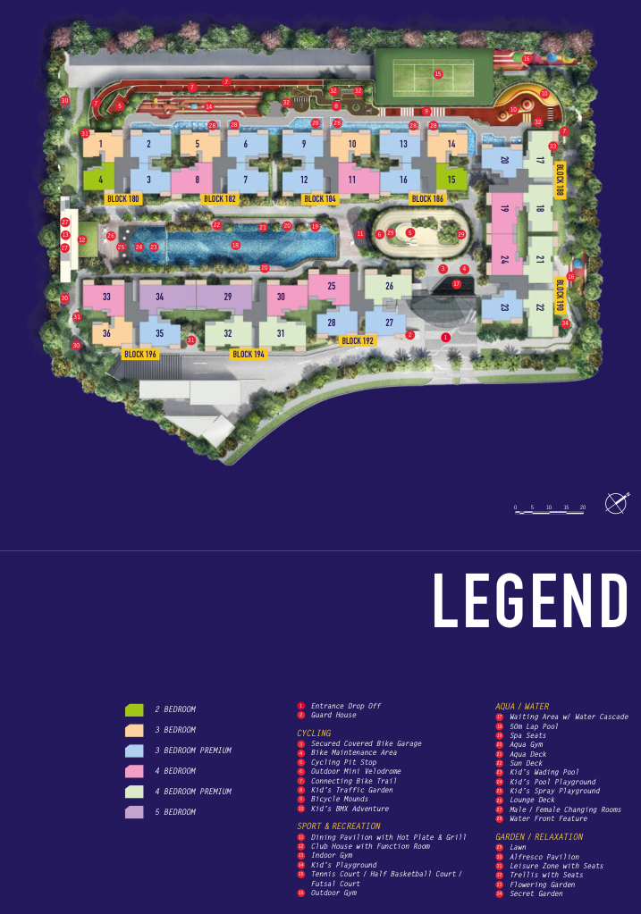 Westwood Residences EC - Site Plan with Legend